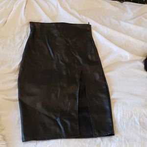 Naked Wardrobe Leather Skirt